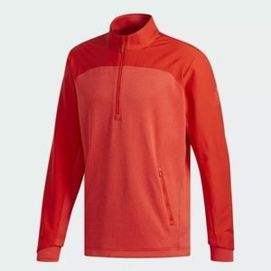 🆕Adidas Golf Go-To Adapt 1/4 Zip Men Red Pullover